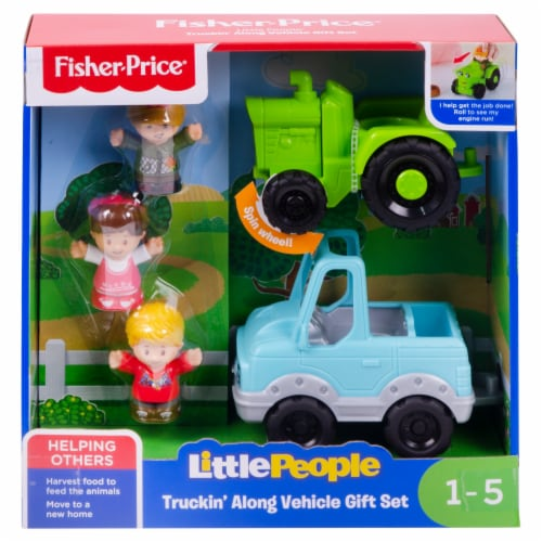 Fisher-Price® Little People Truckin Along Vehicle Gift Set Perspective: front
