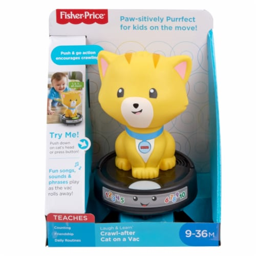 Fisher-Price® Laugh & Learn Crawl-After Cat On A Vac Toy Perspective: front