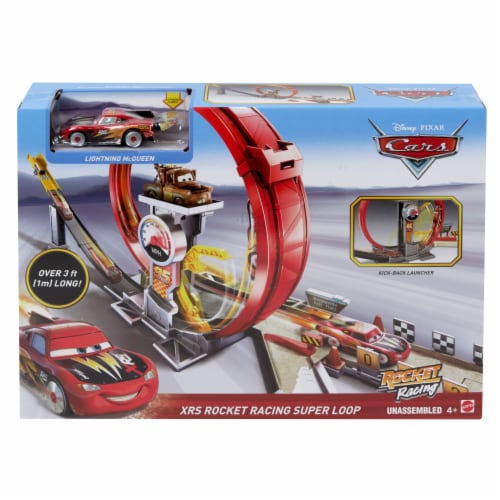 Mattel Disney Pixar Cars XRS Rocket Racing Super Loop Playset Perspective: front