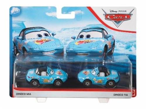 Disney and Pixar Cars Dinoco Mia & Dinoco Tia Toy Racers Perspective: front