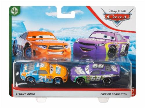 Disney Pixar Cars Speedy Comet and Parker Brakeston Race Toys Perspective: front