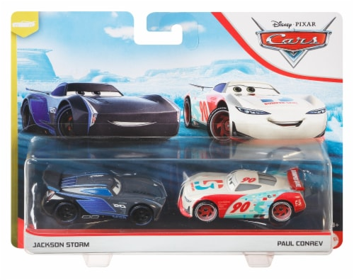 Disney Pixar Cars Jackson Storm & Paul Conrev Toy Racers Perspective: front