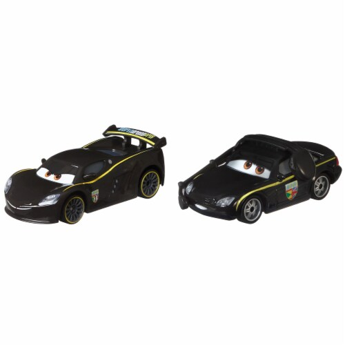 ACTION Cars 1:55 Scale Die Cast Car Set Lewis Hamilton and Bruce Boxmann Perspective: front