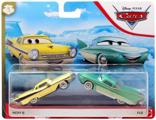Disney PIXAR Cars Flo and Nicky B Toy Cars Perspective: front