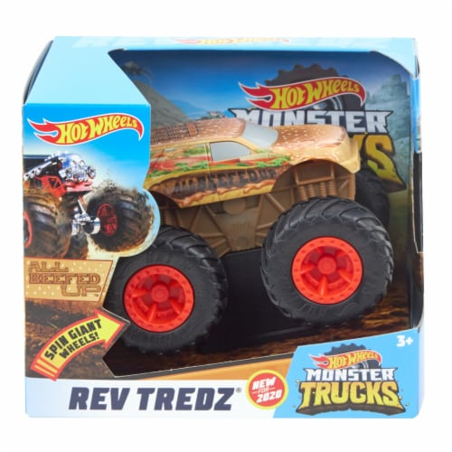 Hot Wheels Monster Trucks Rev Tredz All Beefed Up Vehicle Perspective: front