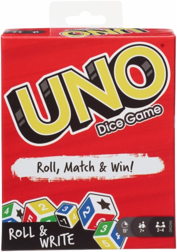 Mattel UNO Dice Game Perspective: front