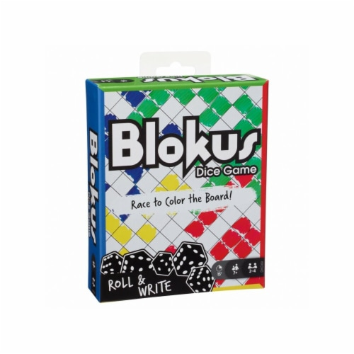 Mattel Blokus Dice Board Game Perspective: front