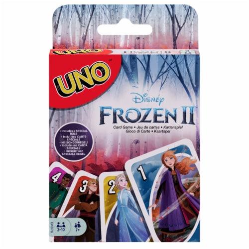 Mattel Disney Frozen 2 Uno Card Game Perspective: front