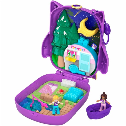Polly Pocket Pocket World Owlnite Campsite Compact Play Set Perspective: front