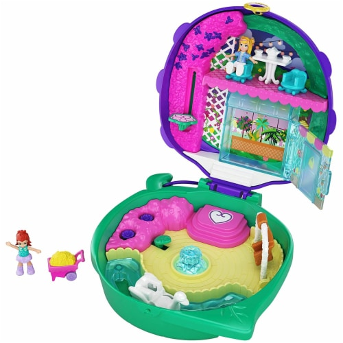 Polly Pocket Pocket World Lil' Ladybug Garden Compact Playset Perspective: front