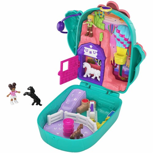 Polly Pocket Pocket World Cactus Cowgirl Ranch Compact Playset Perspective: front