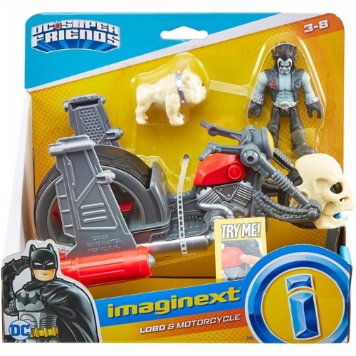 Fisher-Price Imaginext DC Super Friends Lobo & Motorcycle Perspective: front