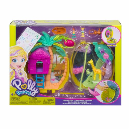 Mattel Polly Pocket Tropicool Pineapple Purse Perspective: front