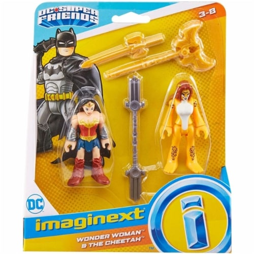 Fisher-Price® Imaginext DC Super Friends Wonder Woman & The Cheetah Figures Perspective: front