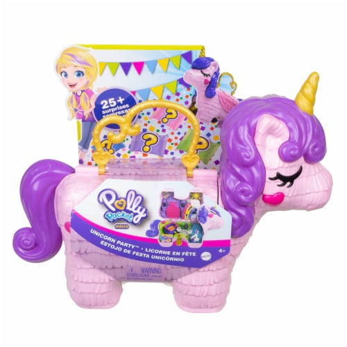 Mattel Polly Pocket Unicorn Party Playset Perspective: front