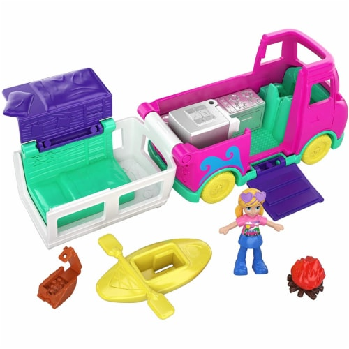 Pollyville Transforming Camper Van Playset Perspective: front