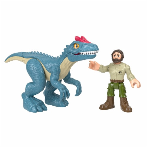 Fisher-Price® Imaginext Jurassic World Allosaurus Dinosaur & Ranger Action Figures Perspective: front