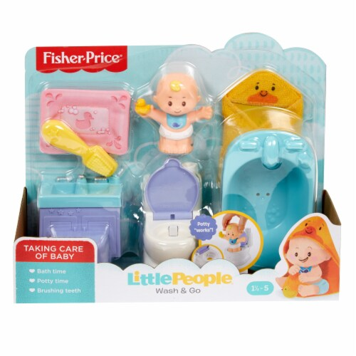 Fisher-Price® Little People Wash & Go Playset Perspective: front