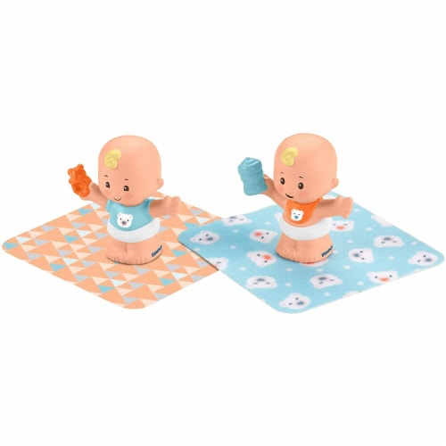 Fisher-Price Little People Snuggle Twins Figure Set for Toddlers, Blonde Perspective: front