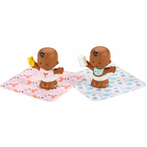 Fisher-Price Little People Snuggle Twins Figure Set for Toddlers Perspective: front