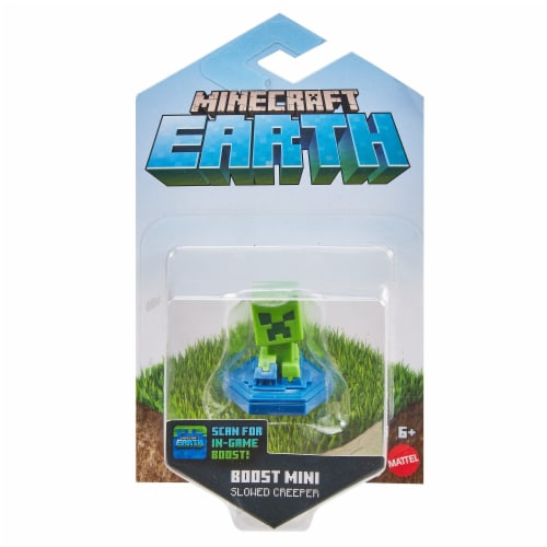 Mattel Minecraft Earth Boost Slowed Creeper Action Figure Perspective: front