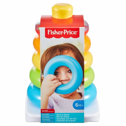 Fisher-Price Rock-A-Stack Baby Toy Perspective: front