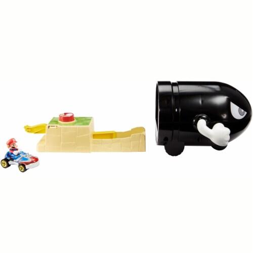 Mattel Hot Wheels® Mario Kart Bullet Bill Play Set Perspective: front