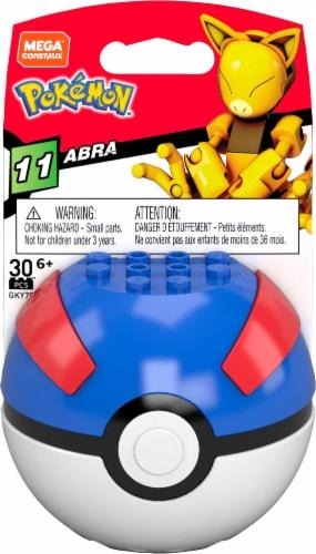 Mega Bloks® Alolan Abra Pokeball Figure Perspective: front