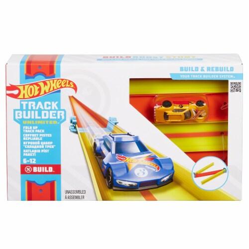 Mattel Hot Wheels® Track Builder Unlimited Fold Up Track Pack Perspective: front