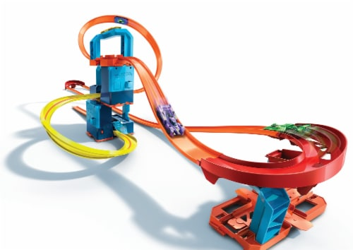 Mattel Hot Wheels® Track Builder Unlimited Ultra Boost Kit Track Set Perspective: front