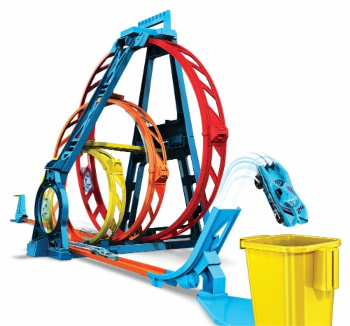 Mattel Hot Wheels® Track Builder Unlimited Triple Loop Kit Perspective: front