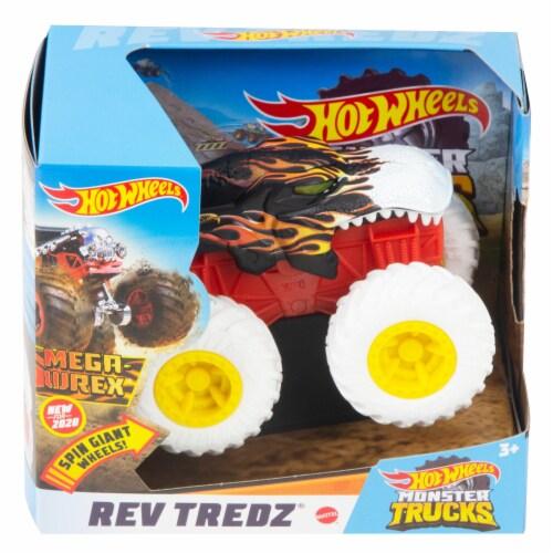 Hot Wheels Monster Trucks Rev Tredz Mega Wrex Vehicle Perspective: front