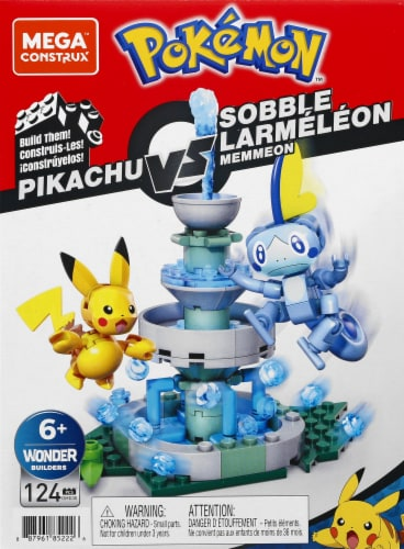 Mega Construx Pokemon Pikachu Vs Sobble Building Set Perspective: front