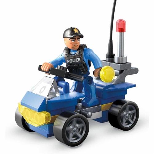 Mega Construx Wonder Builders, Police ATV (50 Pcs) Perspective: front