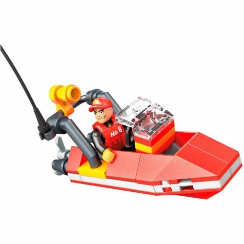 Mega Construx Wonder Builders, Rescue Boat ( 50 Pcs) Perspective: front