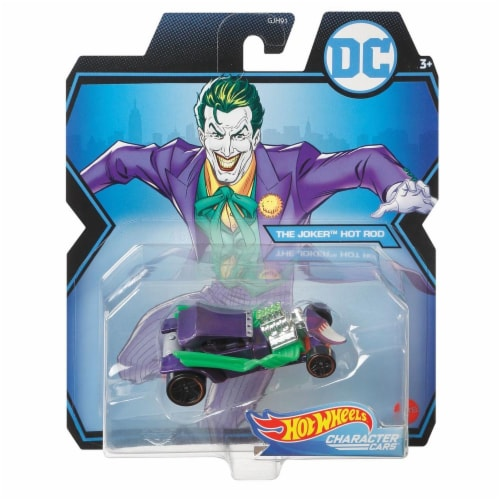 Mattel Hot Wheels® DC Joker Hot Rod Character Car Perspective: front