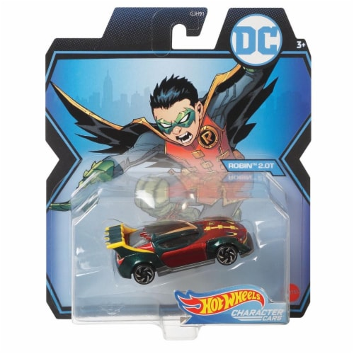 Mattel Hot Wheels® DC Robin 20T Character Car Perspective: front
