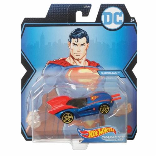 Mattel Hot Wheels® DC Superman Character Car Perspective: front