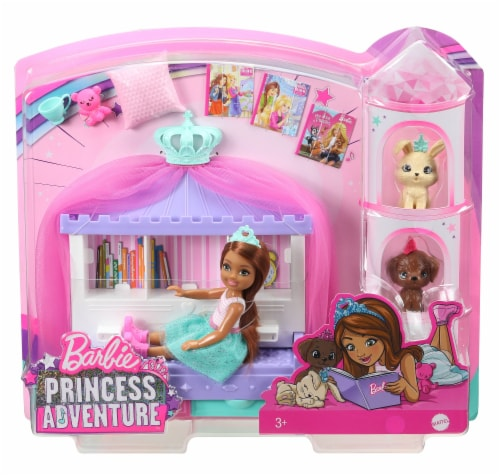 Mattel Barbie Princess Adventure Doll Playset Perspective: front