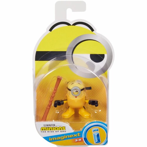 Fisher Price Despicable Me Minions: Rise of Gru Imaginext Stuart with Staff Mini Figure Perspective: front