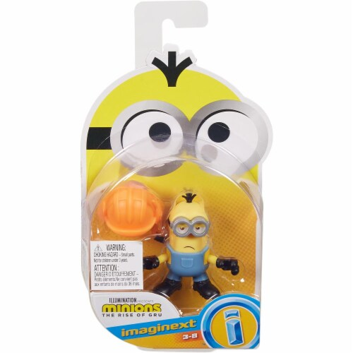 Fisher Price Despicable Me Minions: Rise of Gru Imaginext Kevin with Hard Hat Mini Figure Perspective: front