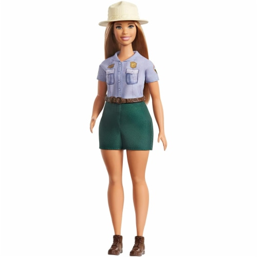 Barbie Blonde Curvy Park Ranger Doll with Ranger Outfit Perspective: front