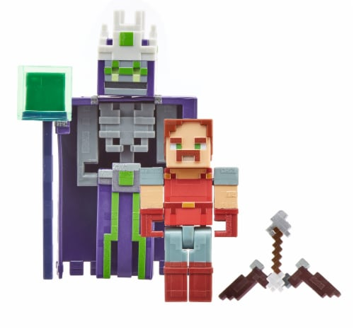 Mattel Minecraft Dungeon Nameless One & Hal Figure Set Perspective: front