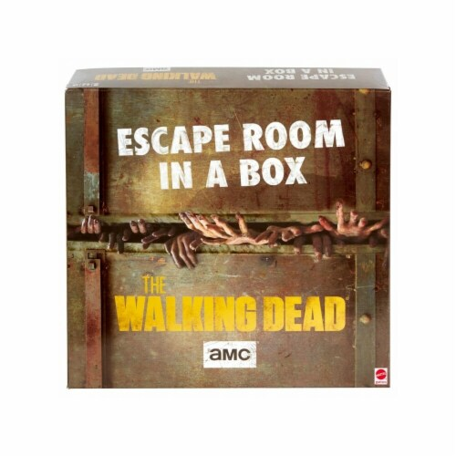 Mattel MTTGNG62 The Walking Dead - Escape Room in a Box Board Game Perspective: front
