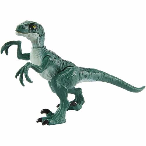 Jurassic World Attack Velociraptor Delta Figure Perspective: front