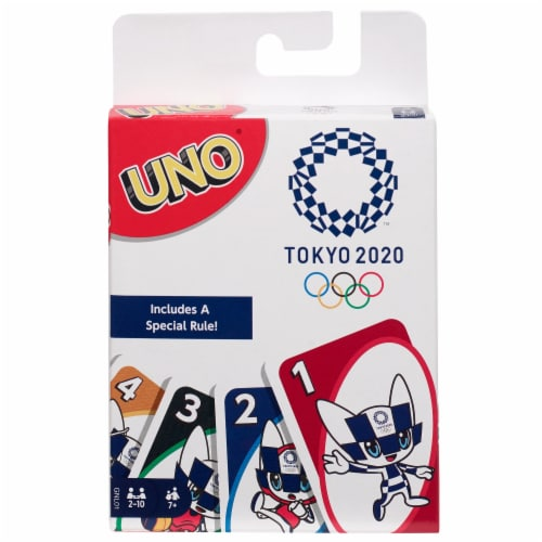Uno Olympics Card Game Perspective: front