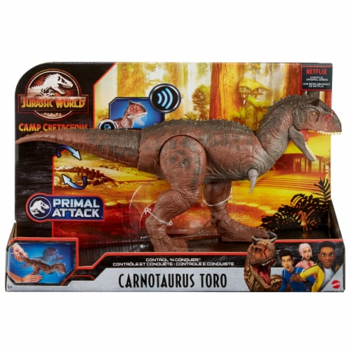 Mattel Jurassic World Control N Conquer Carnotaurus Toro Figure Perspective: front