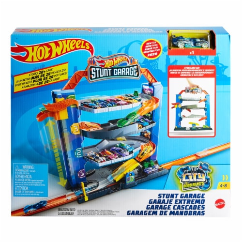 Mattel Hot Wheels® Stunt Garage Play Set Perspective: front