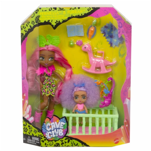 Mattel Cave Club Wild About Babysitting Fernessa Furrah Dolls Perspective: front