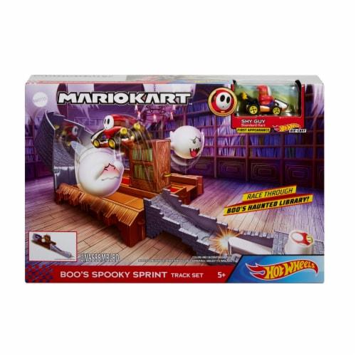 Mattel Hot Wheels® Mario Kart Boo's Spooky Sprint Playset Perspective: front